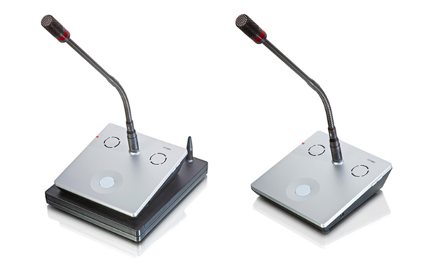 DMic Wireless and Wired with gooseneck microphones